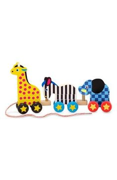 Pull Along Stackable Zoo Animals