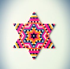 Star hama perler bead design