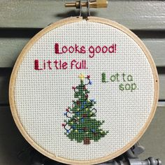 Christmas Vacation Cross Stitch Ornament/Wall by DulcineasRucksack