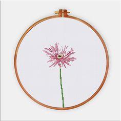 Gerbera Daisy cross stitch pattern Modern flower by ThuHaDesign