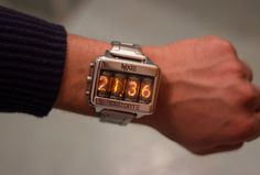 Nixie tube watch clock wrist watch self made docking station Men's Watches, Luxury Watches, Cool Watches, Fashion Watches, Watches For Men, Fancy Watches, Casual Watches, Wrist Watches, Nixie Tube Watch