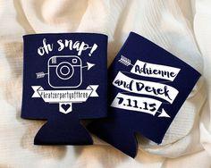 Personalized Koozies Wedding Koozies Wedding Favor by SipHipHooray