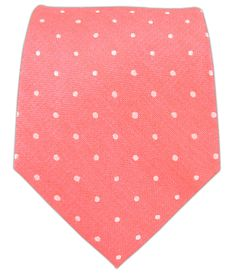 Dotted Dots - Coral (Linen) | Ties, Bow Ties, and Pocket Squares | The Tie Bar