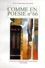 Comme en poésie n°66 - Eric Desordre