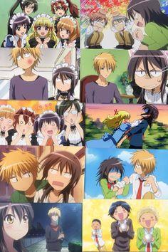 MAID SAMA Anime Kiss, Manga Anime, Anime Art, Awesome Anime, Anime Love, Best Romantic Comedy Anime, Usui Takumi, Maid Sama Manga, Girls Anime