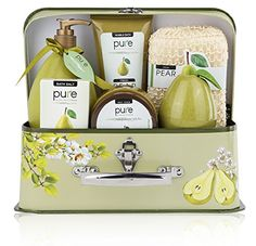 SHOW STOPPER GIFT! 6-Piece luxury-edition to Collectible set of Rachelle Parker's best-loved bath & body gifts! PARKER'S VISION: Nourish. Indulge & Seduce with the natural benefits of fresh fruit, food for body & spirit - The ultimate pampering spa set! 100% satisfaction guaranteed. 100 % PURE. NO HARMFUL CHEMICALS