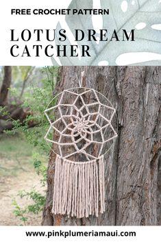 Crochet Wall Art, Tapestry Crochet, Crochet Home, Crochet Crafts, Crochet Projects, Free Crochet, Crochet Dreamcatcher Pattern Free, Diy Crochet Patterns, Crochet Mandala Pattern