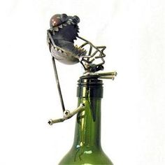 Chugger the Bugger Gnome Be Gone Wine bottle stopper is the creation of artist Fred Conlon.