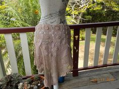 tribal romantic crochet skirt  hippy bohemian by WildColonialGirl