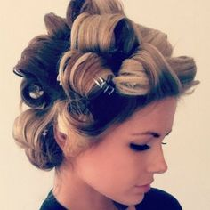 pin curls to get the perfect curls: curl hair with a curling iron (1.5 inch used…