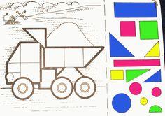 Мама для мам: Аппликация из геометрических фигур