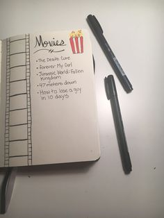 Movies in bullet journal!