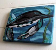 BLUE CRAB Coastal Painting Art By Scott D Van by MySalvagedPast