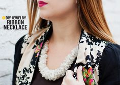 DIY: ribbon necklace