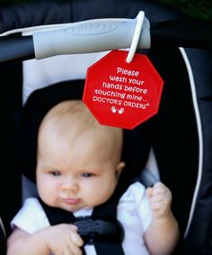Look at this My Tiny Hands Red 'Wash Your Hands' Sign Set on #zulily today!