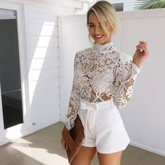 Sunday brunch with the girls? Sweet talker playsuit (white), $65! ShopPlaysuit! www.muraboutique.com.au #muraboutique
