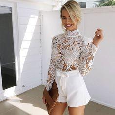 Sunday brunch with the girls? Sweet talker playsuit (white), $65! Shop Playsuit! www.muraboutique.com.au #muraboutique