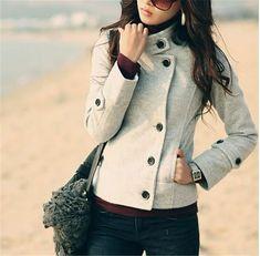 2014 inverno europeu grande senhoras casacos dupla face Bomber Jacket mulheres casuais parágrafo curto grosso revestimento do revestimento das mulheres NZ2142 em Jaquetas Básicas de Roupas & acessórios no AliExpress.com | Alibaba Group