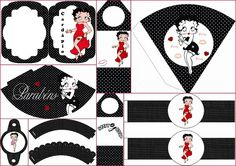 Betty Boop: Free Party Printables.