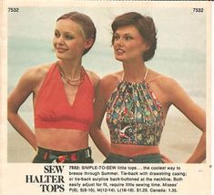 Simply Halter Tops. (1970's)