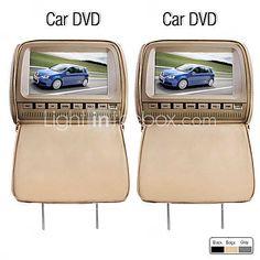 deluxe 9 hovedstøtte bil dvd-afspiller og beskyttende skærm dæksel (spil, gratis hovedtelefoner, FM, 1par) - EUR € 169.99