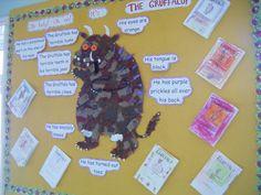 The Gruffalo - Classroom displays Gruffalo Activities, Writing Activities, School Displays, Classroom Displays, Kindergarten Writing, Literacy, Montessori Elementary School, Gruffalo's Child, Writing Area