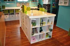 organised craft rooms...