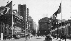 1954 - Viaduto do Chá em época de quarto centenário da fundação de São Paulo.