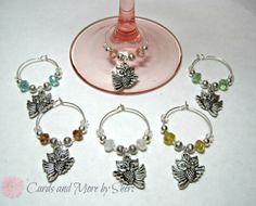 Wine Glass Charms  Owls by CardsAndMoreBySheri on Etsy, $16.99