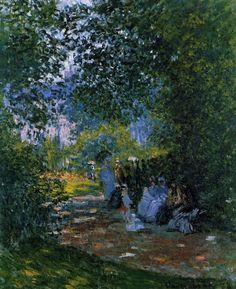 Au Parc Monceau (C Monet - W 467),1878.