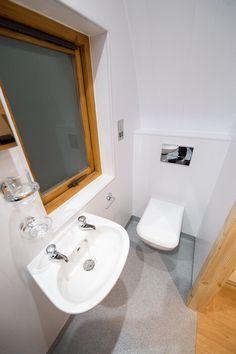Full size bathroom in the luxury pod