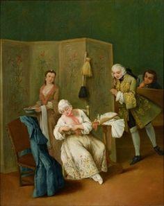 The Indiscreet Gentleman - Pietro Longhi - The Athenaeum