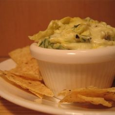 """Hot Artichoke and Spinach Dip II 