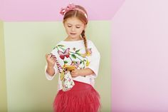 MONNALISA Spring Summer 2016 #Monnalisa #fashion #kids #childrenswear #newcollection #girls #style #summer #flowers #green #coral #pastels #butterfly