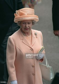 The Queen Attending Ladies Day At Ascot. (Photo by Tim Graham/Getty Images) The Queen Attending Ladies Day At Ascot. God Save The Queen, Hm The Queen, Royal Queen, Her Majesty The Queen, Queen Liz, Queen Outfit, Queen Dress, Elizabeth Philip, Queen Elizabeth Ii