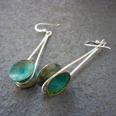 Kinetic Verdigris Earrings by CDSOdesigns on Etsy, $50.00