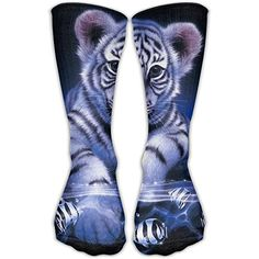 SEyuKBP Crazy White Tiger Animal Girls Dress Socks Womens Crew Socks Pet Tiger, Womens Fashion Casual Summer, Dress Socks, Girls Dresses, Women's Fashion, Animal, Dresses Of Girls, Dresses For Girls