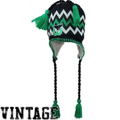 Zephyr Hartford Whalers Downhill String Knit Beanie - Navy Blue