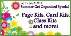 Organize your Page Kits, Card Kits, and half done projects.