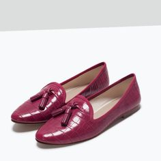 ZARA - WOMAN - FLAT SHOES WITH TASSELS