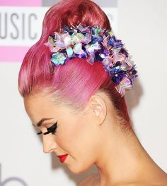 katy perry:) pink hair or no hair she's still the bomb!