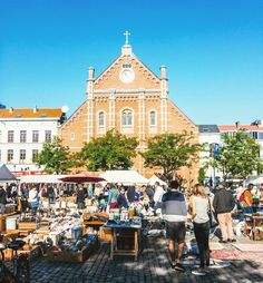 Marolles Flea Market in Brussels is working everyday since the end of 19th century