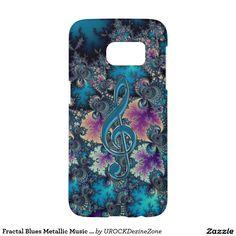 Fractal Blues Metallic #Music Clef #Galaxy S7 Case Samsung Galaxy S7 Case  #zazzle
