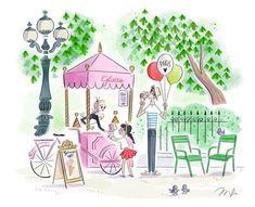 Cute Drawings, Drawing Sketches, Paris Drawing, Balance Art, Pix Art, Buch Design, Naive Art, Drawing For Kids, Cute Illustration