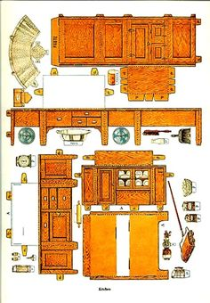 Paper Doll house Furniture
