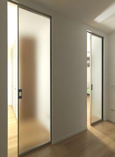 Sysntesis® Line Hinged Door Door Design, House Design, Loft Door, Master Bedroom Interior, Home Office Decor, Home Decor, Internal Doors, Interior Barn Doors, Bars For Home