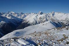 Caucasus. Karachay-Cherkessia. Dombay. Photo Mountains from Mount Musa Achitara north.