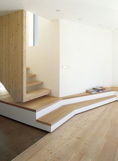 Saved by Inspirationde (inspirationde). Discover more of the best Architecture, Interior, Design, Tetris, and Haus inspiration on Designspiration Arch Interior, Interior Stairs, Interior And Exterior, Contemporary Architecture, Interior Architecture, Residential Architecture, Escalier Design, Stair Handrail, Modern Stairs