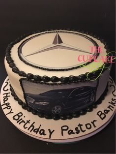 Mercedes Benz inspired cake