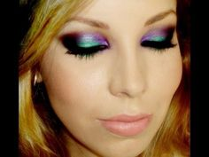 Maquiagem ousada, com verde e roxo, por Luciane Ferraes - YouTube